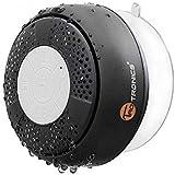 TaoTronics Altavoz Bluetooth Ducha Impermeable Inalámbrico con Ventosa, A2DP Estéreo, IPX4, hasta 6 Horas de Reproducción par