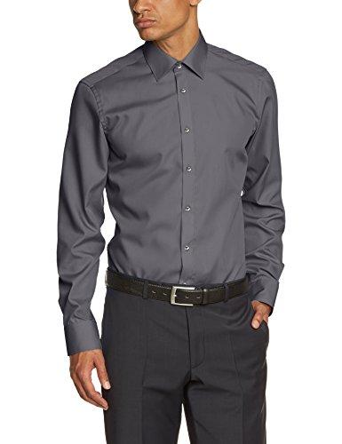 Venti Chemise de travail Col chemise classique Homme 97 dunkelgrau