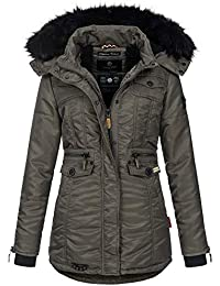 Navahoo Damen Winter Jacke Parka Teddyfell Winterjacke Kunstfell Mantel B615