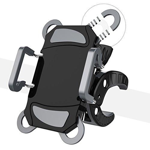 Fahrrad Handyhalterung, Worcord Fahrrad Handyhalter Halterung Universal des Lenker mit 360°Drehbar aus Gummi Größe verstellbar für iPhone X 8 8 Plus 7 7 Plus 6s, Samsung Galaxy S8 S7 J5 A5, Huawei und die Anderen Smartphones tragbar, Geräte GPS