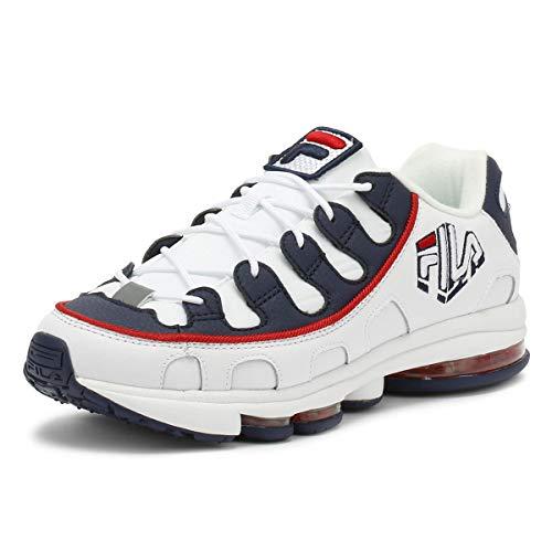 Fila Herren Weiß/Marine/Rot Silva Sneakers-UK 6 -