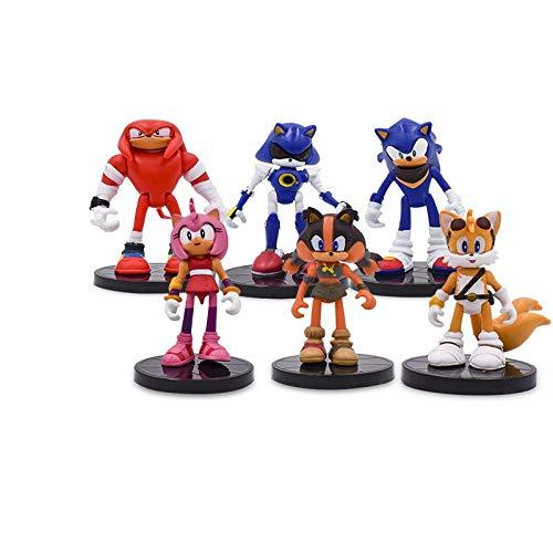 6 Teile/Satz 9 cm Sonic Boom Seltene Dr Eggman Schatten Action-Figuren Spielzeug PVC Spielzeug Sonic Shadow Tails Charaktere Figur Spielzeug Für Kinder - Sonic-spielzeug Tails