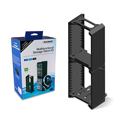 Preisvergleich Produktbild Kongqiabona Multifunktionsspeicherständer Kit VR Halter Spiel CD Halter Konsole Zubehör Für PS4 Für PS4 Pro / Slim Für Xbox ONE S Konsole