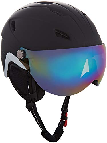 Cmp wa-2 ski helmet with visor, casco da sci unisex adulto, nero, xl