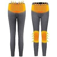 Pantalones calefactados eléctricos USB para Mujeres Pantalones calefactables con Aislamiento Inteligente Recargables Leggings de Cintura Alta Pantalones Lavables Pantalones de Ropa Interior cálida