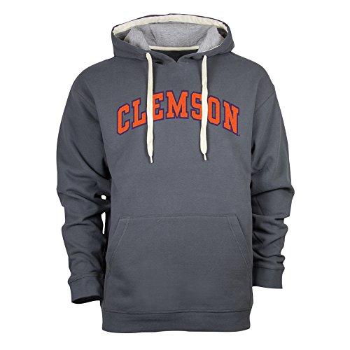 Ouray Sportswear NCAA Clemson Tigers Peerless DLX Sweatshirt, Large, Dark Grey/Premium Heather
