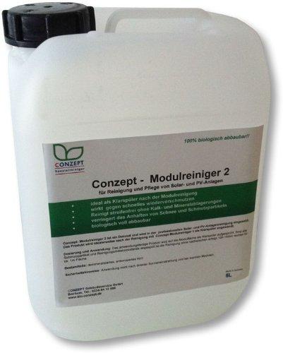 Conzept-Modulreiniger 2 (5 l) Spezialreiniger für die Reinigung und Pflege von Solar-und PV-Anlagen, angewandt und empfohlen in der professionellen Solaranlagenreinigung
