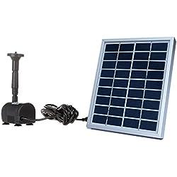Anself BSV-SP002A - Bomba de Agua de Panel de Energía Solar para Piscina Jardín Fuentes (9V , 2W)