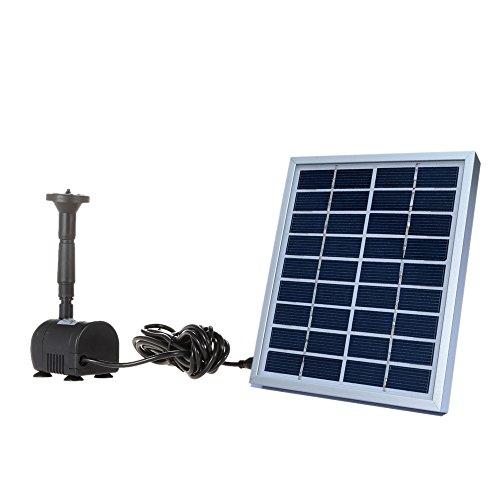 Rendimiento del producto: 1. La bomba es accionada directamente por la luz del sol. Por lo que funciona de forma continua sólo cuando la luz solar es suficiente. A medida que la energía del panel solar se depende de la luz del sol, la bomba también s...