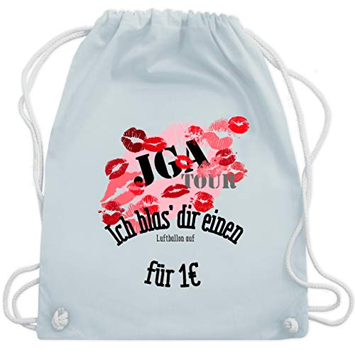 JGA Junggesellinnenabschied - JGA Tour - Ich blas dir einen Luftballon auf - Unisize - Pastell Blau - WM110 - Turnbeutel & Gym Bag