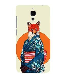 HiFi Designer Phone Back Case Cover Xiaomi Redmi Mi 4 :: Redmi Mi 4 ( Fox Women in China Dress )