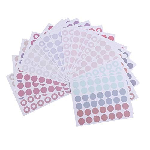 6 stücke Selbstklebende Aufkleber Etiketten Abnehmbare Kleinen Kreis Dot Aufkleber für Klassenzimmer Organisation Dekorationen Yard Verkauf Kalender Planer