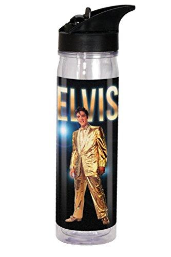 Spoontiques Elvis Gold Anzug Flip Top Flasche, schwarz
