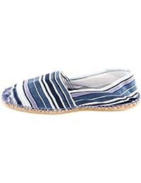 Reservoir Shoes - Espadrille pas chère homme Reservoir Shoes Rayure Bleu Marine