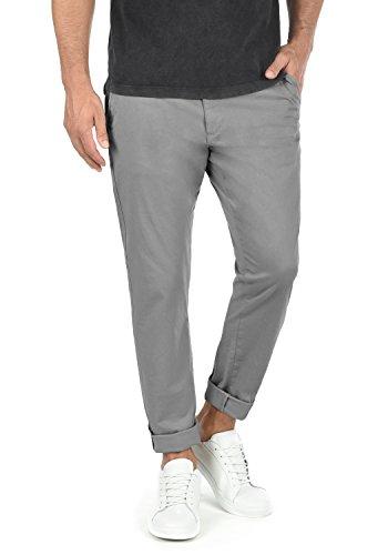 !Solid Machico Herren Chino Hose Stoffhose Mit Gürtel Aus Stretch-Material Regular Fit, Größe:W34/34, Farbe:Mid Grey (2842)