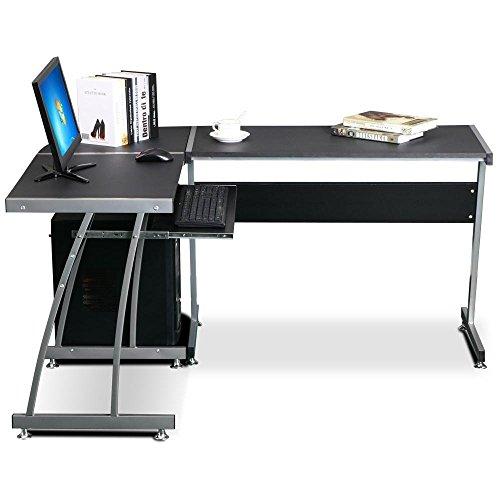 L Shaped Corner Desk Computer Workstation Home Office: Bigzzia L Shape Corner Computer Desk Table Home Office PC