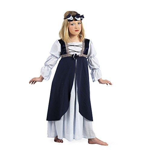 Mascarada MI791 Gr.4 - Mittelalterliche Malena Kostüm, Größe 4, (Prinzessin Mittelalterliche Blau Kostüme)