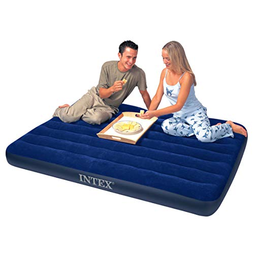 Intex Luftbett Classic Downy Blue Queen Set, blau, 152 x 203 x 22 cm/4-teilig - 5