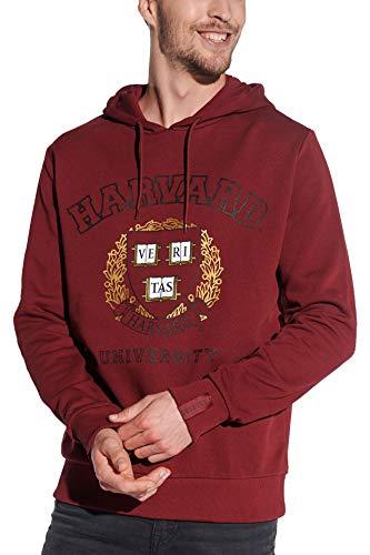 Course Herren Hoodie Original Druck Harvard Kapuzenpullover Sweatshirt Kapuze, Rot, L