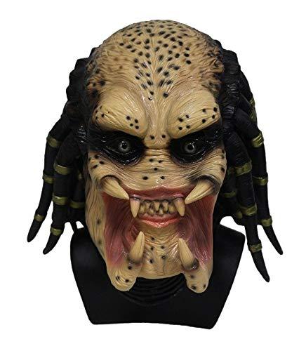 B-Creative Alien Predator Maske Latex Erwachsene Fancy Kleid Halloween beängstigende Thema Kostüm-Party