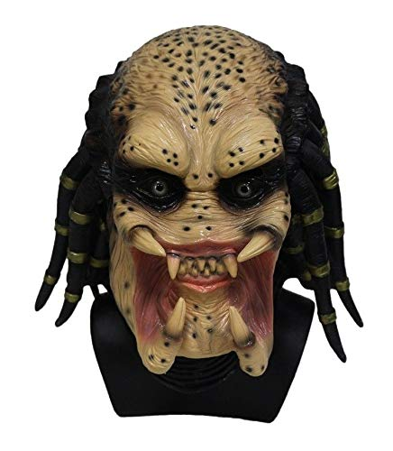 B-Creative Alien Predator Maske Latex Erwachsene Fancy Kleid Halloween beängstigende Thema Kostüm-Party (Kostüm Alien Bodysuit)