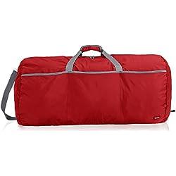 AmazonBasics - Bolsa grande de viaje/deporte (lona, 98 l), color rojo