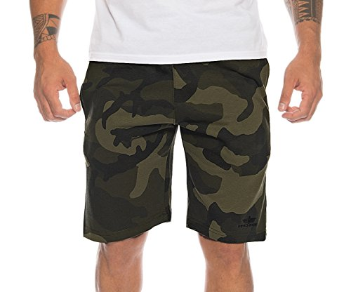 Finchman 81E4 Herren Cotton Sweat Short Kurze Hose Bermuda Camo Grün S