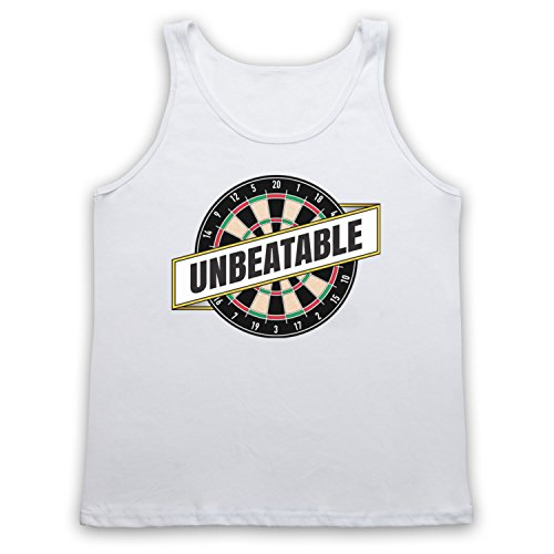 Darts Unbeatable Darts Slogan Tank-Top Weste Weis