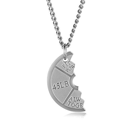 Kostüm Links Hai - Daesar Halsketten Herren Edelstahl Links Puzzle Rund Kette Anhänger Freundschaftskette Silber