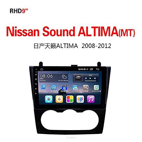 Lionet GPS-Navigation für Auto Nissan Sound Altima (MT), 2008-2012, 22,9 cm (9 Zoll), Android 8.1, 4G8 Core, 32G, GPS-Navigation, Radio, Stereoanlage, Bluetooth, GPS-Navigator (Nissan Altima Auto Radio)