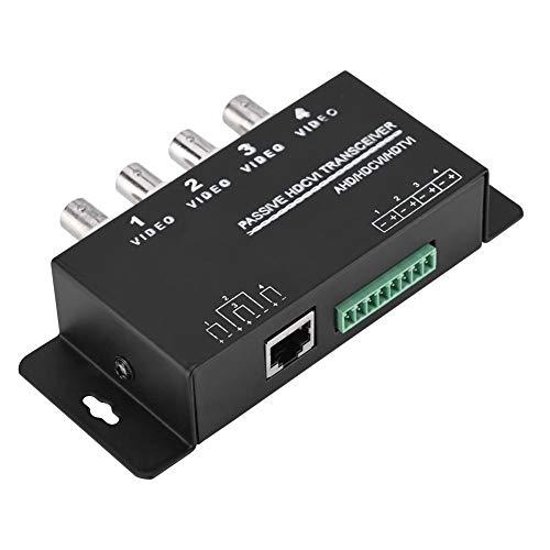 Mavis Laven HD Video UTP Transceiver, BNC zu RJ45 CAT5 / 6 UTP Passiv Transceiver Video Balun für AHD/HDCVI/HDTVI CCTV Kamera(4-CH) -
