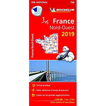 Carte France Nord-Ouest Michelin 2019