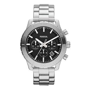 Fossil Herren-Armbanduhr XL Keaton Chronograph Quarz Edelstahl CH2814
