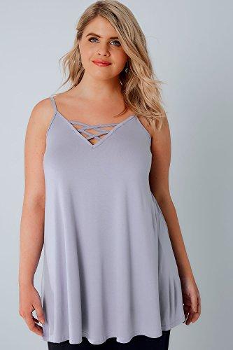 Yours Clothing - Débardeur - Uni - Sans Manche - Femme violet violet Violet