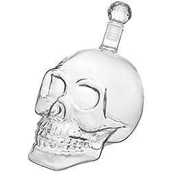 Frasco de vidrio con forma de cráneo y tapón de corcho (350, 550 ó 1000 ml) para whisky, vino y licores, 550 ml
