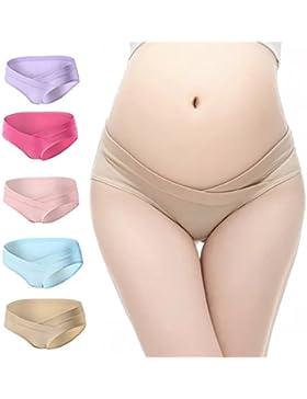 LHZY Women Under the Bump Maternity Knickers Gravidanza Intimo Mutandine Confezione da 5