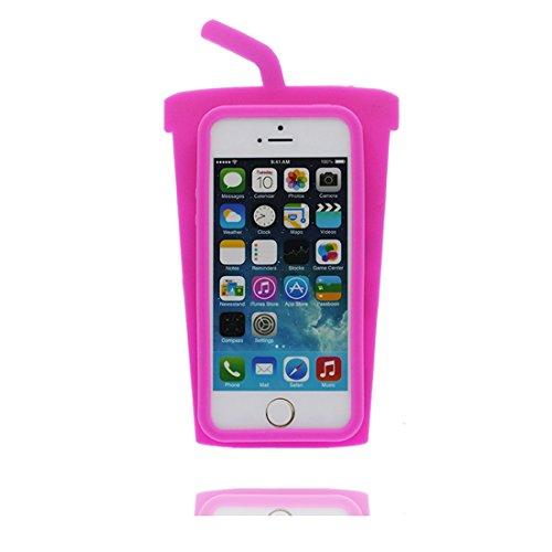 Custodia iPhone 5, iPhone 5s SE 5C 5G copertura case in Gel TPU Durevole flessibile morbido Cover Case - Rosa maiale Color 1
