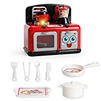 MOGOI Refrigerator Kitchen Play Set, Kids Children Toddlers Pretend Play Kit with Fake Food Included, Great for Toddlers 3 Years and Older