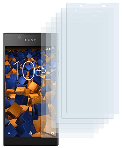 mumbi Schutzfolie kompatibel mit Sony Xperia L1 Folie klar, Bildschirmschutzfolie (6x)