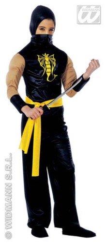 Widmann wdm38757-Kostüm für Kinder Power Ninja (140cm/8-10Jahre), Schwarz, XS