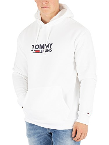 Tommy Jeans Men's Corp Logo Hoodie, White
