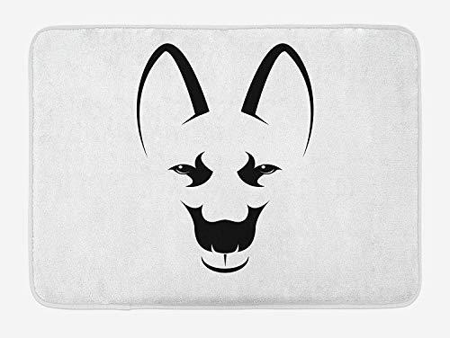 (Changjianggun Bathroom Bath Rug Kitchen Floor Mat Carpet,Halloween Decorations,Skeleton Demon Figures Flowers and Trick or Treat Quote Ethnic Design,Multi,Flannel Microfiber Non-Slip Soft Absorbent)