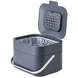 Joseph Joseph - Stack 4 - Poubelle de Table pour Déchets Organiques - Bac à Compost - Gris