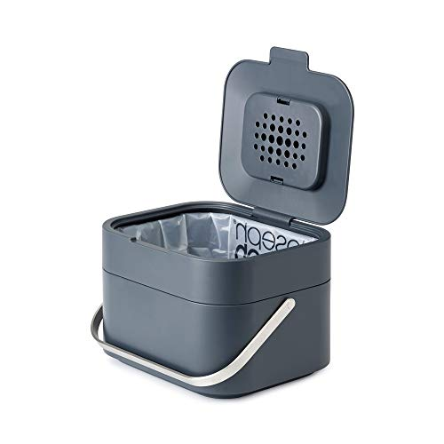 *Joseph Joseph 30016 Stack 4 Bio-Müllbehälter, Plastik, 23,5 x 19,7 x 16,1 cm, graphit*