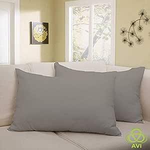 "AVI Waterproof & Smooth 1 Pcs. Pillow Protector- Light Grey- (17""x 27""in)"