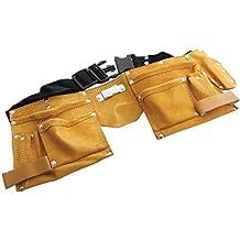 Carpinteros Herramienta Ardisle Heavy Duty bronceada doble de cuero de la correa de la correa de bolsa de las profesionales de petróleo
