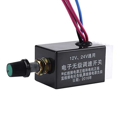24V Interruptor de Controlador de Velocidad Regulador de Velocidad para Ventilador Calentador de Cami/ón Coche 12V