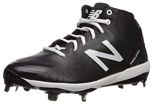 New Balance Herren 4040v5 Metal Midcut Baseball Schuh, Schwarz (schwarz/schwarz), 45 EU