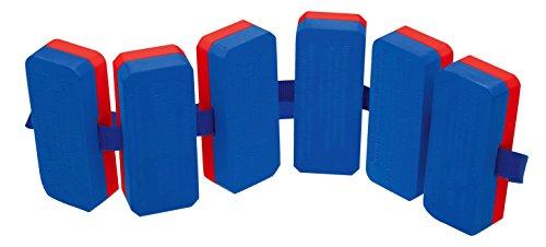 Sport-Thieme Schwimmgürtel | Für Kinder u. Erwachsene | Schwimmhilfe bis 60 kg | 6-teilige Schwimmer | Plastazote | Für Schwimmunterricht und Schwimmschulen | 150 g | Blau-Rot