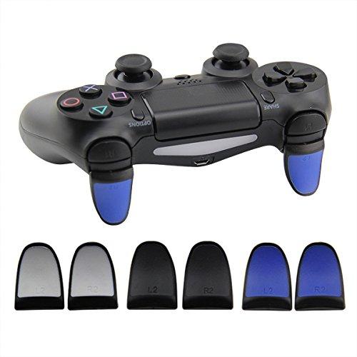 Preisvergleich Produktbild PS4 Controller Trigger Extensions Verlängerte Trigger L2 R2 mit Softtouch Grip (Blau)